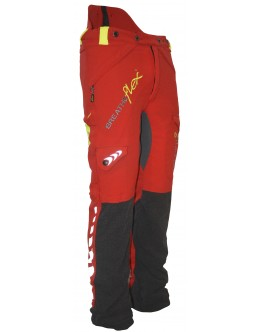 AT4010 Breatheflex Type A Class 1 Trousers - Red/Yellow EN381-5