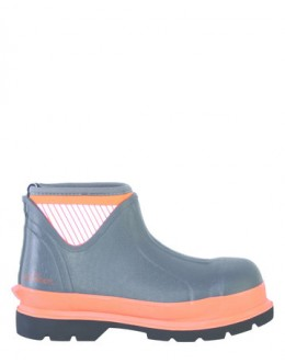 Brightboot Hi Viz Wellinton Boot - Orange / Grey, - Low