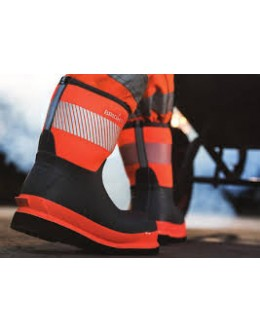 Brightboot Hi Viz Wellinton Boot - Orange / Grey - Mid