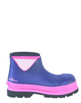 Brightboot Hi Viz Wellinton Boot - Pink /Navy, - Low