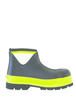 Brightboot Hi Viz Wellinton Boot - Yellow / Black, - Low