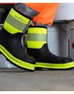 Brightboot Hi Viz Wellinton Boot - Yellow / Black - Mid
