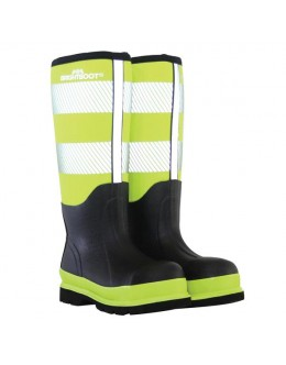 Brightboot Hi Viz Wellinton Boot - Yellow / Black- Tall