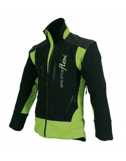 Breatheflex Performance Work Jacket - Lime/Black (with removable sleeves)