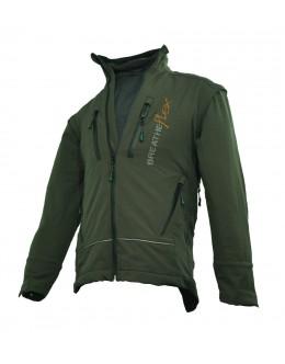 Breatheflex Performance Work Jacket - Olive ( with removable sleeves )