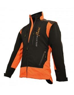 Breatheflex Performance Work Jacket - Orange/Black (with removable sleeves)