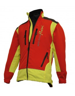 Breatheflex Performance Work Jacket - Red/Yellow (with removable sleeves)