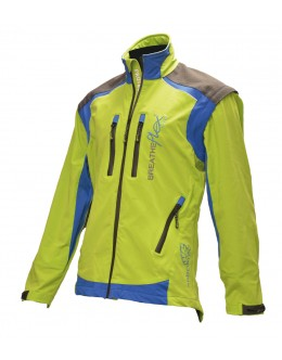 Breatheflex Pro Work Jacket - Lime (with removable sleeves)