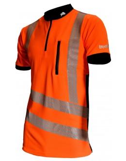 Treehog S/S  Hi Vis Polo shirt -Orange EN ISO 20471 Class 2 and GO/RT 3279