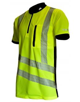 Treehog S/S Hi Vis Polo shirt - Yellow EN ISO 20471 Class 2